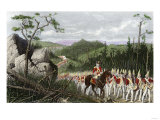 British General Braddock Marching to Fort Duquesne in the French and Indian War  c1755