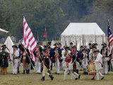 Continental Army Muster Reenactment at Yorktown Battlefield  Virginia