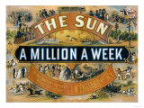 Ad for the New York Sun  a Weekly Newspaper  c1880