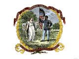 Banner of the Third US Colored Troops  an African-American Regiment in the Civil War