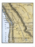 Map of Oregon Territory Showing Boundary of US with English Canada under Dispute