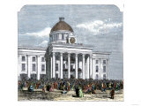 Jefferson Davis Inaugurated as President of the Confederate States of America  c1861