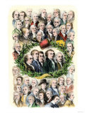 Portraits of the Signers of the Declaration of Independence  Philadelphia  c1776
