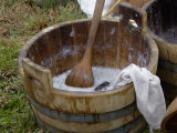 Camp Laundry in a Bucket at a Reenactment on the Yorktown Battlefield  Virginia