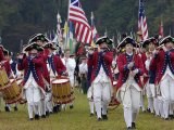 British Fife and Drum Corps Takes the Field in a Reenactment of the Surrender at Yorktown
