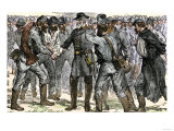 General Robert E Lee's Farewell to His Soldiers after the Surrender at Appomattox  c1865