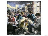 Garment Workers in a Crowded Sweatshop  an Evasion of Factory Labor Regulations  c1890