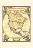 Nautical Map of North America Reproduction d'art