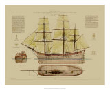 Antique Ship Plan VII