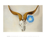 Ram's Head, Blue Morning Glory Reproduction d'art par Georgia O'Keeffe