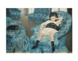 Little Girl in a Blue Armchair  c1878