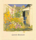 Grandma Battin's Garden Reproduction d'art par Gustave Baumann