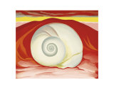 Red Hills with White Shell, c.1938 Reproduction d'art par Georgia O'Keeffe