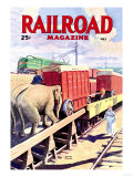Railroad Magazine: The Circus on the Tracks  1946