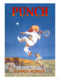 Punch: Gnome Playing Tennis