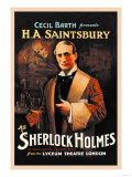 H A Saintsbury as Sherlock Holmes