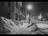 Snowy Night in Woodstock  Vermont