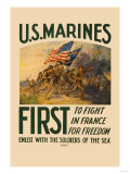 US Marines  First to Fight in France for Freedom