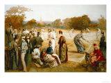 Victorian Tennis Match