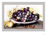 Dish of Grapes and Peaches