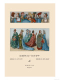 Variety of Fifteenth Century French Costumes