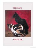 The Cats Reproduction d'art par Théophile Alexandre Steinlen