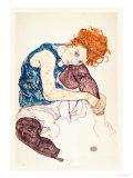 Painter's Wife, Seated Reproduction d'art par Egon Schiele