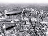 Zeppelin above Philadelphia
