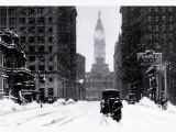 Snow at City Hall  Philadelphia  Pennsylvania