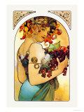 Fruits Reproduction d'art par Alphonse Mucha