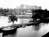Dock on the River by the Art Museum  Philadelphia  Pennsylvania