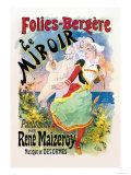 Folies-Bergere: le Miroir Pantomime Reproduction d'art par Jules Chéret