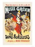 Musee Grevin: Les Dames Hongroises Reproduction d'art par Jules Chéret