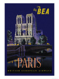 Be Paris and Notre Dame Cathedral