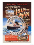 New Route to the Isle of Man Via Heysham on the Fast Turbine Steamer Manxman