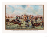 Custer Massacre at Big Horn  Montan June 25  1876