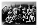 Group of Russian Wrestlers
