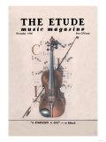 Violin on Magazine Cover