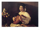 Musician Playing Lute