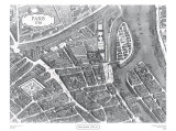 Plan of Paris I  c1730