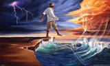 Step Out on Faith Reproduction d'art par Kevin A. Williams