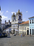 Salvador  the Pelourinho District at Largo Do Pelourinho  Bahia State  Brazil  South America