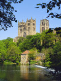 Durham Cathedral from River Wear  County Durham  England