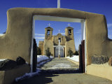 Mission San Francisco De Asis  Ranchos De Taos  New Mexico  USA