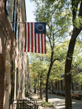 Historic Flag  Society Hill  Philadelphia  Pennsylvania  USA