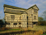 The 16th Century Black and White Gabled House  Little Moreton Hall  Cheshire  England  UK