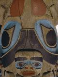 Close up of Carvings  Thunderbird Park  Victoria  British Columbia (BC)  Canada  North America