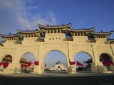 Archway and Chiang Kai Shek (Chiang Kaishek) Memorial Hall  Taipei  Taiwan  Asia