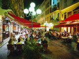 Open Air Cafes and Restaurants  Nice  Cote d'Azure  Provence  France  Europe