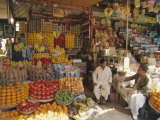 Fruit and Basketware Stalls in the Market  Karachi  Pakistan